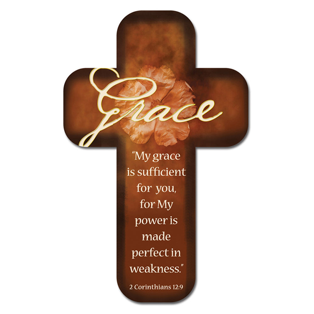Grace Paper - 2 Corinthians 12:9 Cross Bookmark in Packs of 12: $0.49 Each