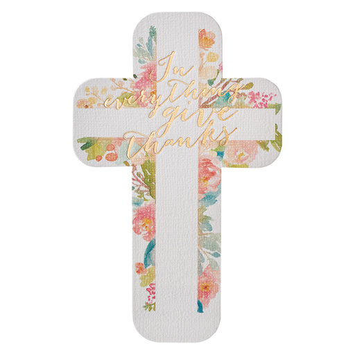 Give Thanks to the Lord Paper Cross Bookmark - 1 Thessalonians 5:18 in packs of 12: $0.49 Each