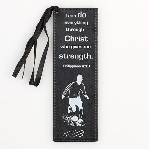 """I Can Do Everything"" LuxLeather Pagemarker/Bookmark in Black - Phil. 4:13 In Packs of 3: $2.00 Each"