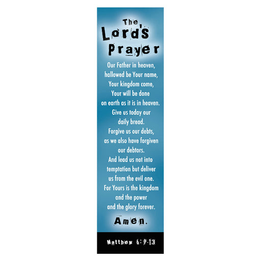 Lord's Prayer (Blue) Bookmarks
