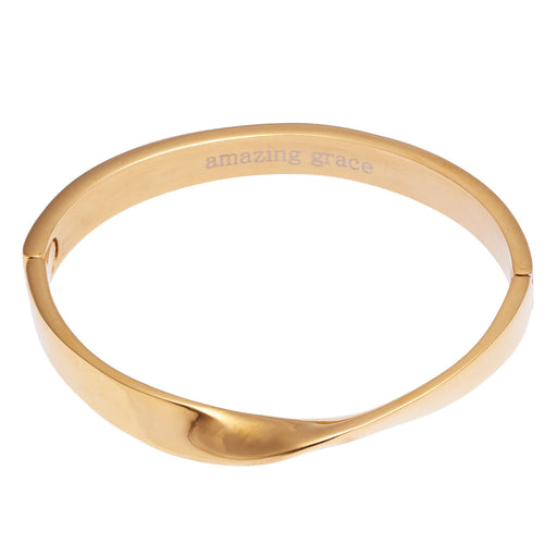 Amazing Grace Hinged Bangle Bracelet