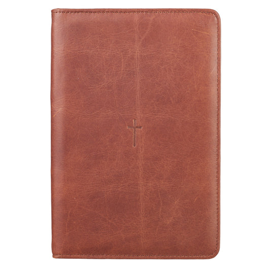 Brown Cross Bible Study Kit - Full Grain Leather