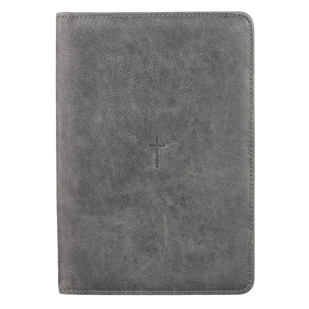 Grey Cross Bible Study Kit - Full Grain Leather