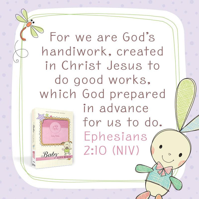 NIV, Baby Gift Bible, Holy Bible, Leathersoft, Pink, Red Letter Edition, Comfort Print: Keepsake Edition
