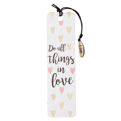 Do All Things in Love Bookmark with Charm - Sold in Packs of 6: $2.99 Each