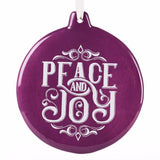 Ornament Round - Peace and Joy