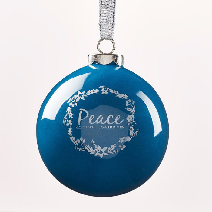 Ornament Ball Peace Blue
