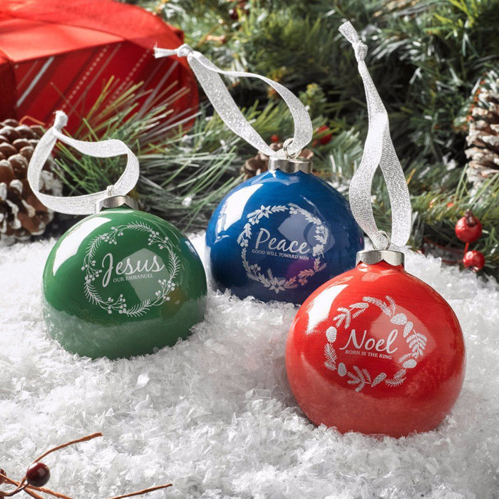 Ornament Ball Noel Red