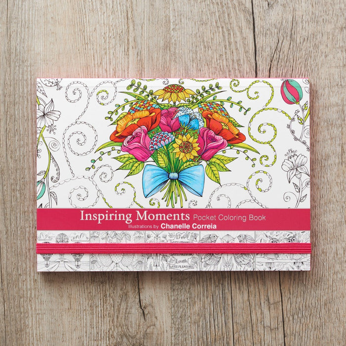 Inspiring Moment Pocket Size by Chanelle Correia Coloring Book