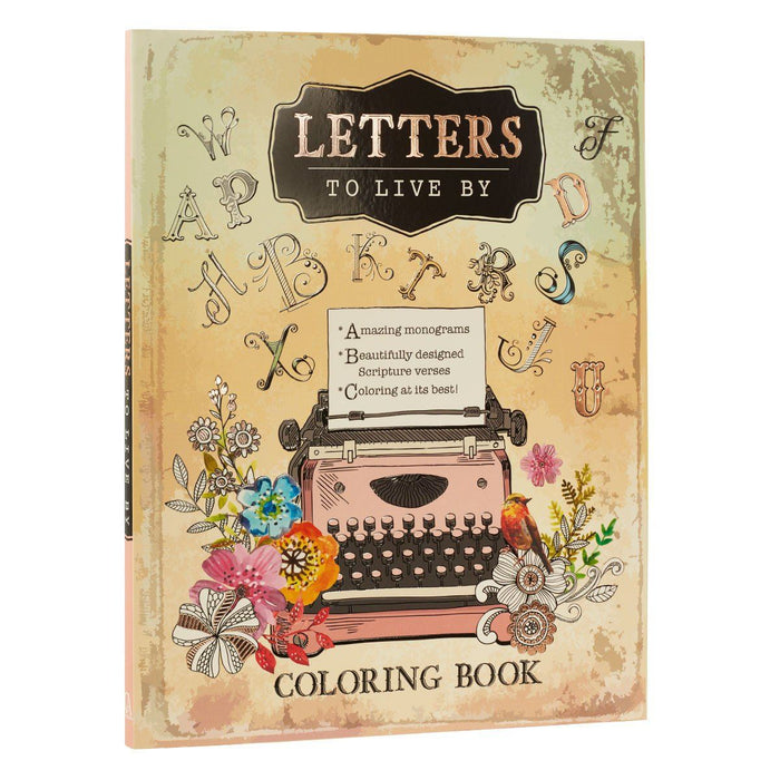 Letters to Live By A-Z monograms - Proverbs Coloring Book
