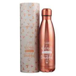Thankful Bronze Stainless Steel Waterbottle