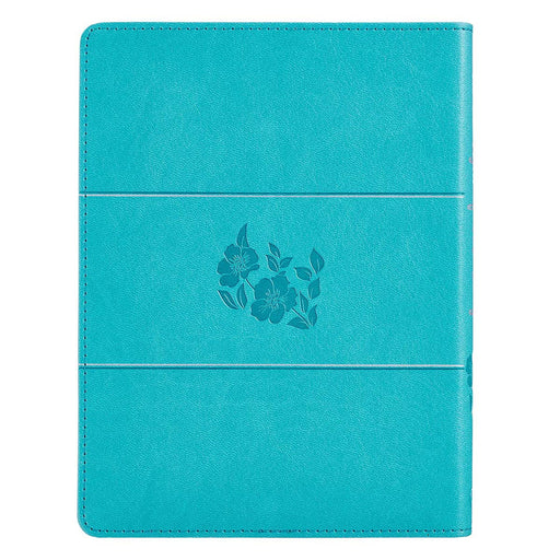 In the Light of His Glory Teal Faux Leather Devotional