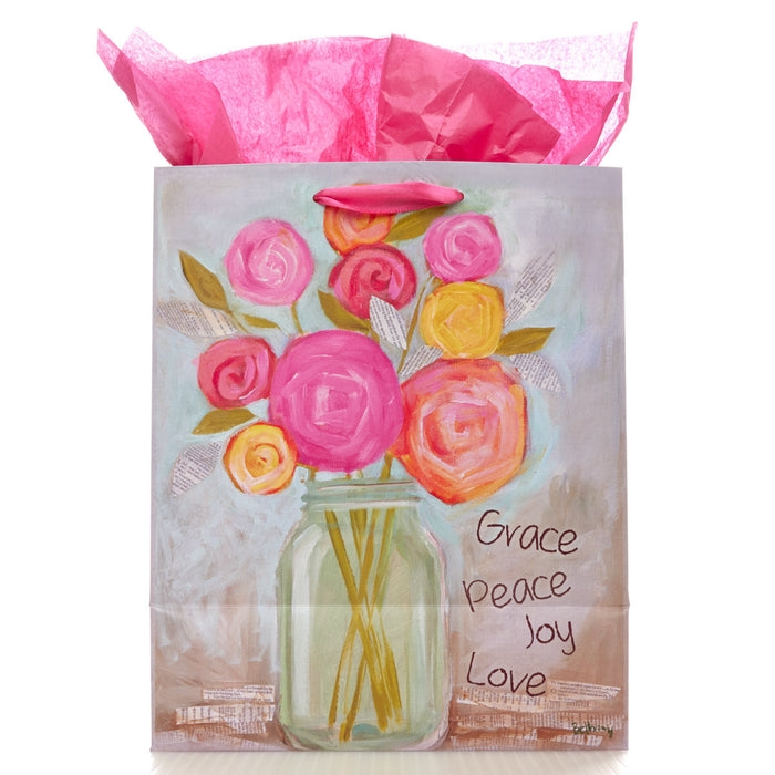 Medium Gift Bag: Grace, Peace, Love, Joy