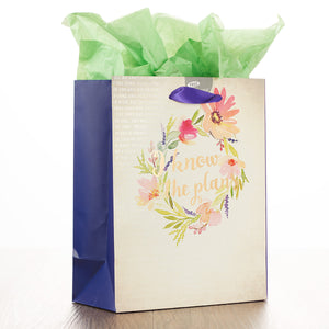 I Know the Plans - Jer 29:11 Medium Gift Bag