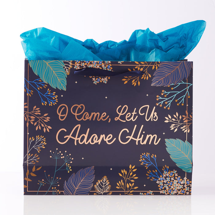 O Come, Let Us Adore Him Large Gift Bag