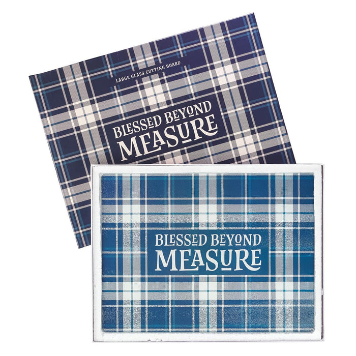 Blessed Beyond Measure Large Glass Cutting Board