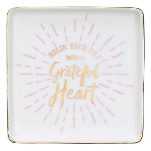 Grateful Heart Ceramic Trinket Tray