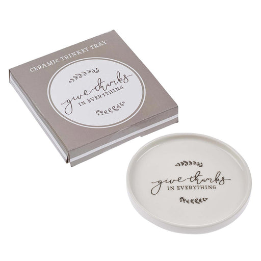 Give Thanks in Everything Ceramic Trinket Tray - 1 Thessalonians 5:18