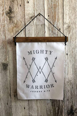 Mighty Warrior Canvas Wall Banner