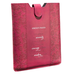 Raspberry Inspirational Tablet Sleeve / Case - Serenity Prayer