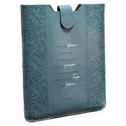 Teal Inspirational Tablet Sleeve / Case- Jeremiah 29:11