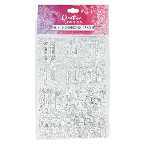 Peel and Stick Coloring Bible Index Tabs