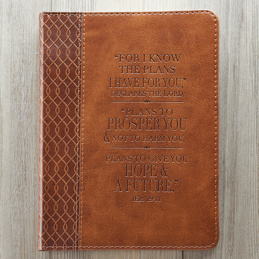 I Know the Plans Handy-sized Journal in Tan - Jeremiah 29:11