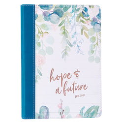 Hope and Future Slimline LuxLeather Journal - Jeremiah 29:11