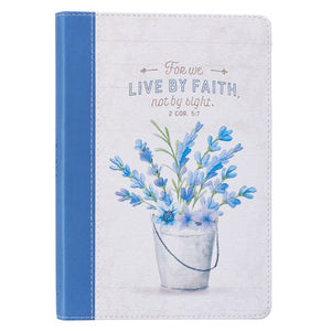 Live By Faith Slimline LuxLeather Journal - 2 Corinthians 5:7