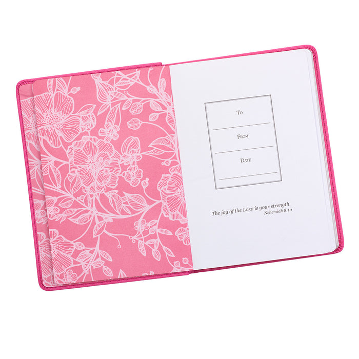 The Serenity Prayer Handy-sized LuxLeather Journal in Pink