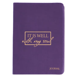 It Is Well With My Soul Handy-Sized LuxLeather Journal