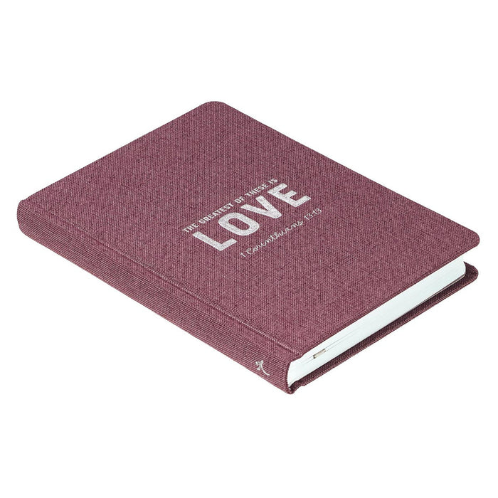 Love Hardcover Linen Journal - 1 Corinthians 13:13