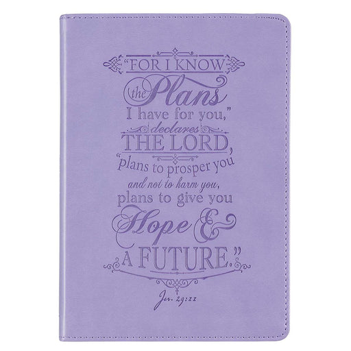 I Know the Plans Purple Faux Leather Classic Journal - Jeremiah 29:11
