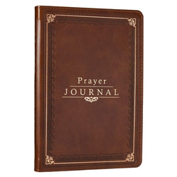 Classic LuxLeather Prayer Journal in Deep Tan