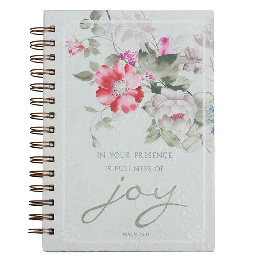 Fullness of Joy Large Hardcover Wirebound Journal - Psalm 16:11