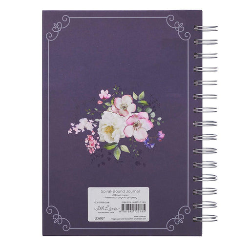 Amazing Grace Large Wirebound Journal in Purple