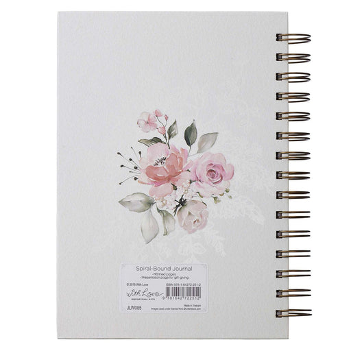 Do Everything In Love Large Wirebound Journal in White