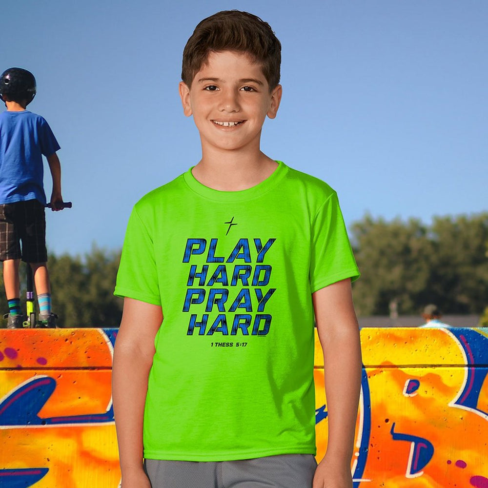 Play Hard Pray Hard Kids ACTIVE® T-Shirt ™