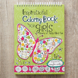 For Girls Wirebound Coloring Book
