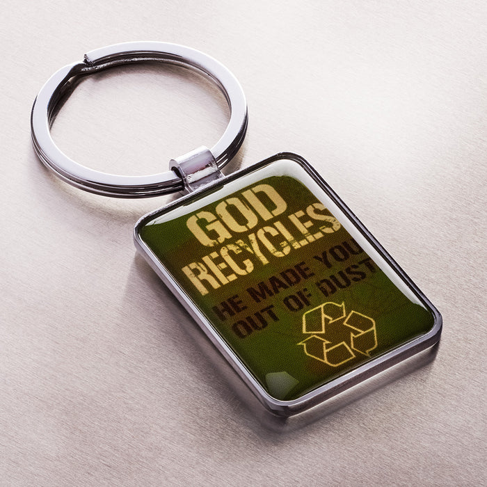 Witness Gear Metal Keyring: God Recycles - Gen 2:7 In Packs of 3: $2.49 Each