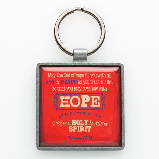 """Hope"" Metal Keyring Featuring Rom 15:3 In Packs of 3: $2.49 Each"