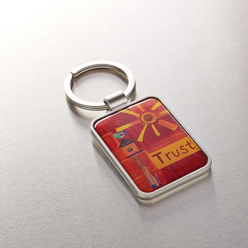"""God's Unfailing Love"" Metal Keyring In Packs of 3: $2.49 Each"