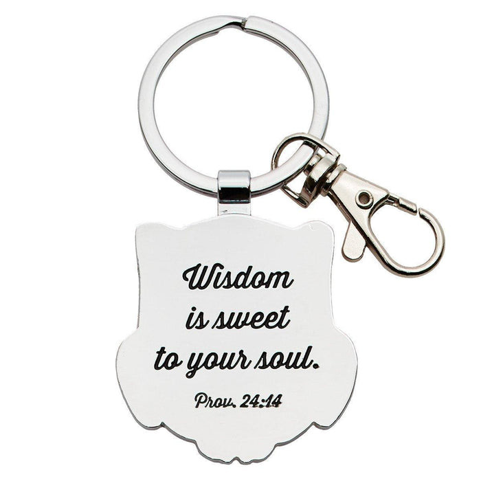 Wisdom for the Soul Metal Keyring Featuring Prov. 24:14 - Pack of 3