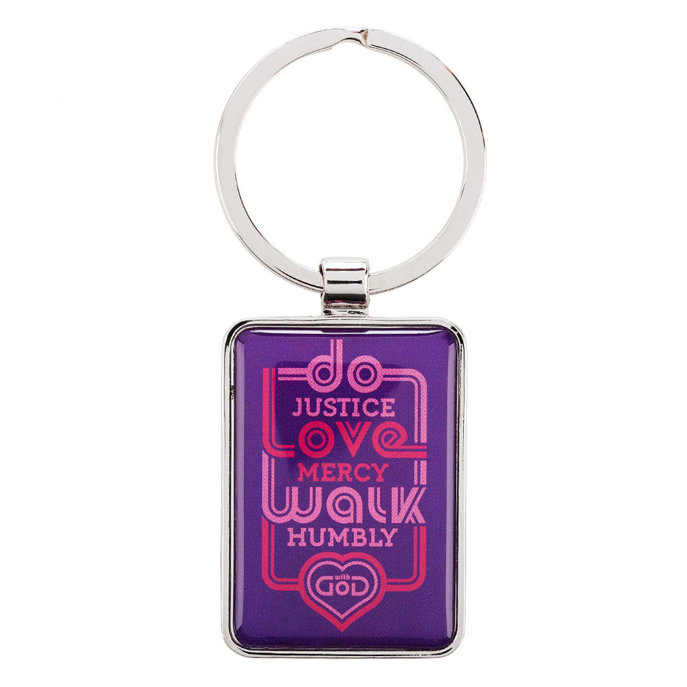 Keyring: Do Justice Love Mercy - Micah 6:8 In Packs of 3: $2.49 Each