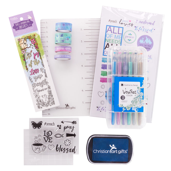 Purple Bible Journaling Kit