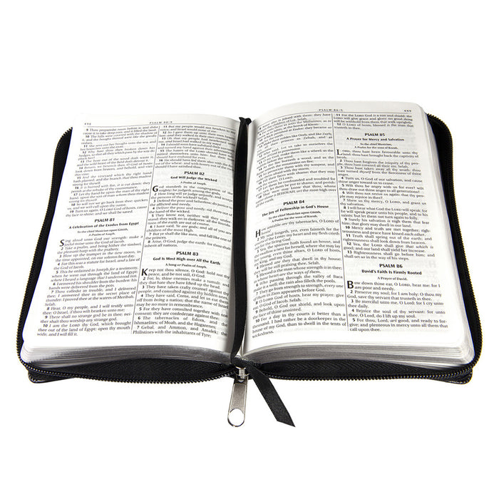 Black with Zipper KJV Bible Compact