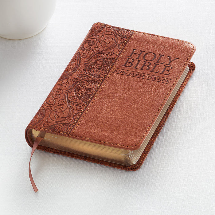 Tan KJV Bible Mini Pocket