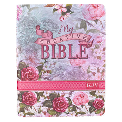 Silky Floral My Creative Bible - KJV Journaling Bible