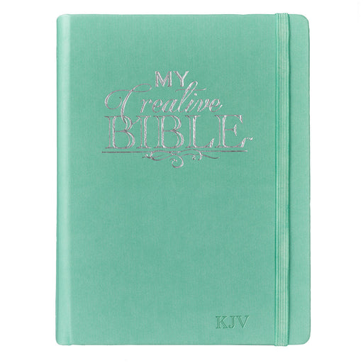 Hardcover My Creative Bible in Teal - KJV Journaling Bible