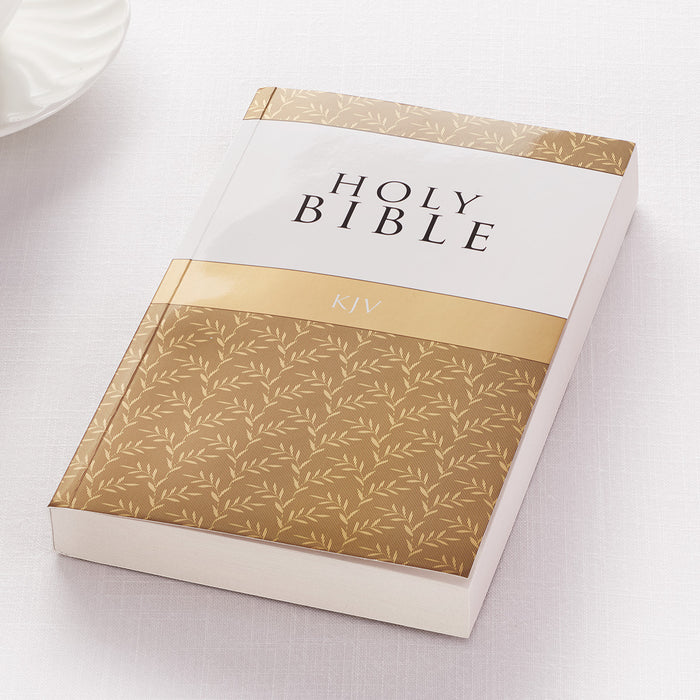 Gold KJV Bible Budget Softcover